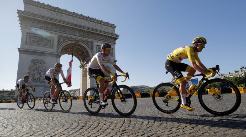 El esloveno Tadej Pogacar durante la última etapa del Tour de Francia, el domingo 18 de julio de 2021.