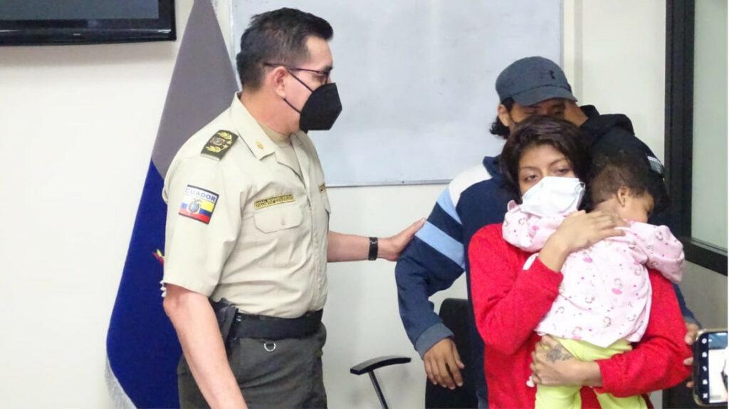Cuatro días permaneció secuestrada menor de año y medio en Guayaquil