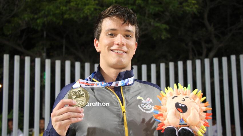 Tomás Peribonio, en los Juegos Bolivarianos 2017, en Colombia.