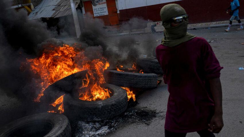 Protestas por el asesinato del presidente Jovenel Moise en Cap-Haitien, Haiti. 22 de julio de 2021