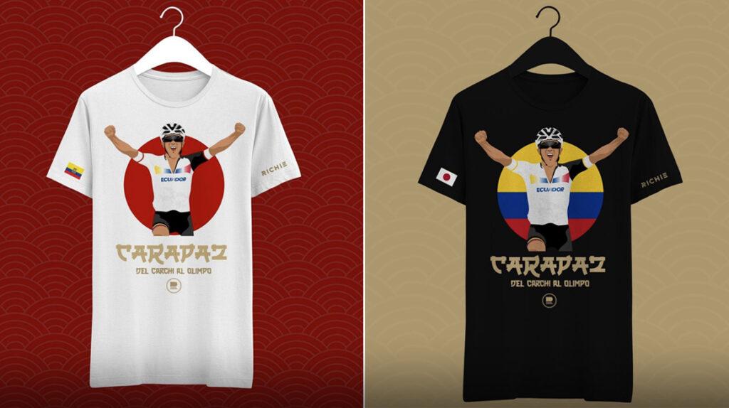 La Tienda Richard Carapaz presenta una camiseta en honor al oro olímpico