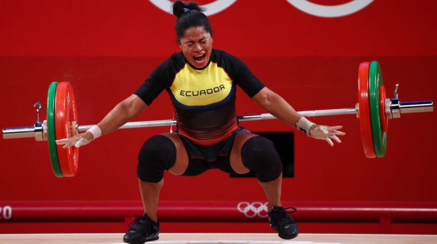 Alexandra Escobar, durante su participación en los Juegos Olímpicos de Tokio, el martes 27 de julio de 2021.