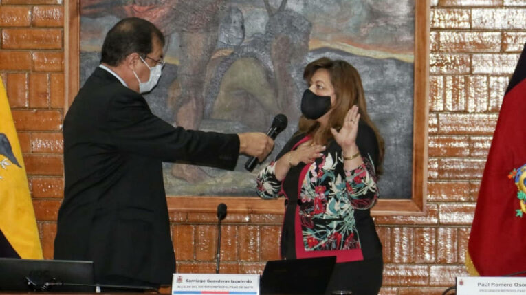 Brith Vaca fue electa como vicealcaldesa de Quito, el 27 de julio de 2021.