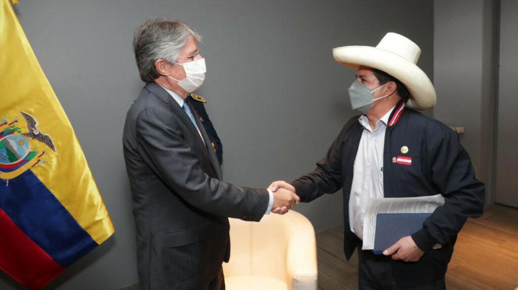 Lasso mantiene su primer encuentro bilateral con el presidente Castillo