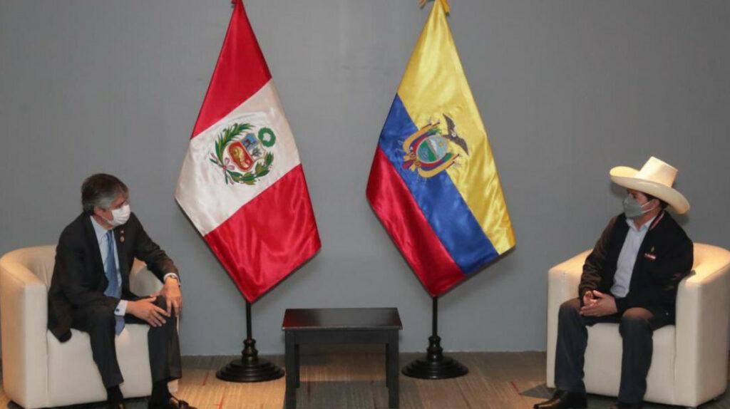Lasso, el primer jefe de Estado en reunirse con Pedro Castillo