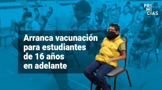 vacunas para estudiantes de más de 16 años