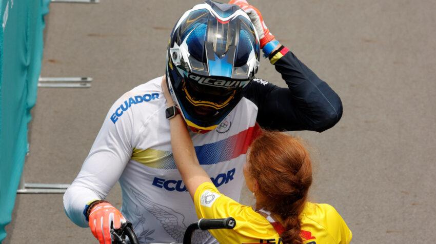 Alfredo Campo, tras su participación en la final de BMX en Tokio 2021, el 29 de julio.
