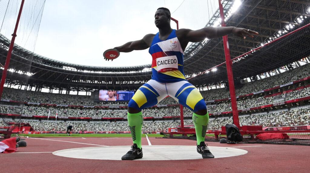 Juan Caicedo lanzó 57,75 metros y se despide de los Juegos Olímpicos