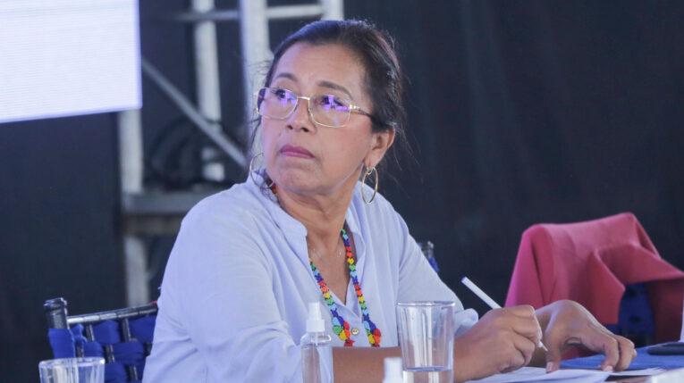 La presidenta de la Asamblea, Guadalupe Llori, durante la presentación de la agenda legislativa este 19 de julio de 2021.