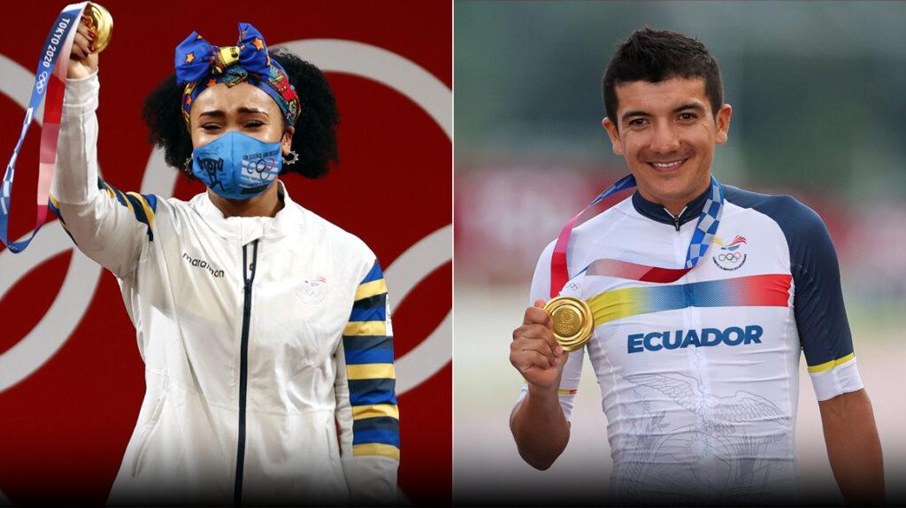 Gracias a las medallas de Carapaz y Dajomes, Ecuador sube en el medallero