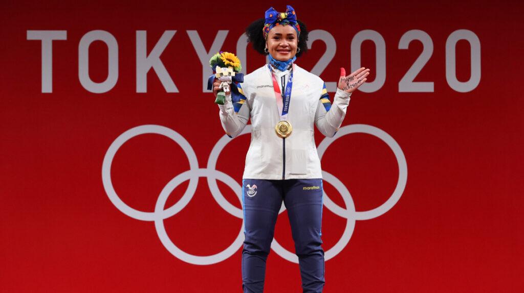 Carapaz y Lasso felicitan a Neisi Dajomes por su victoria en Tokio