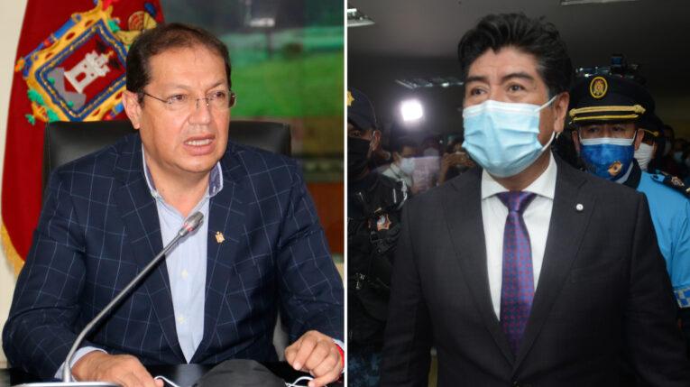 De izquierda a derecha, Santiago Guarderas y Jorge Yunda se disputan la alcaldía de Quito.