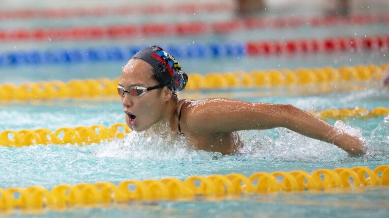 Samantha Arévalo durante un entrenamiento en Cuenca, antes de viajar a Tokio para competir en los Juegos Olímpicos.