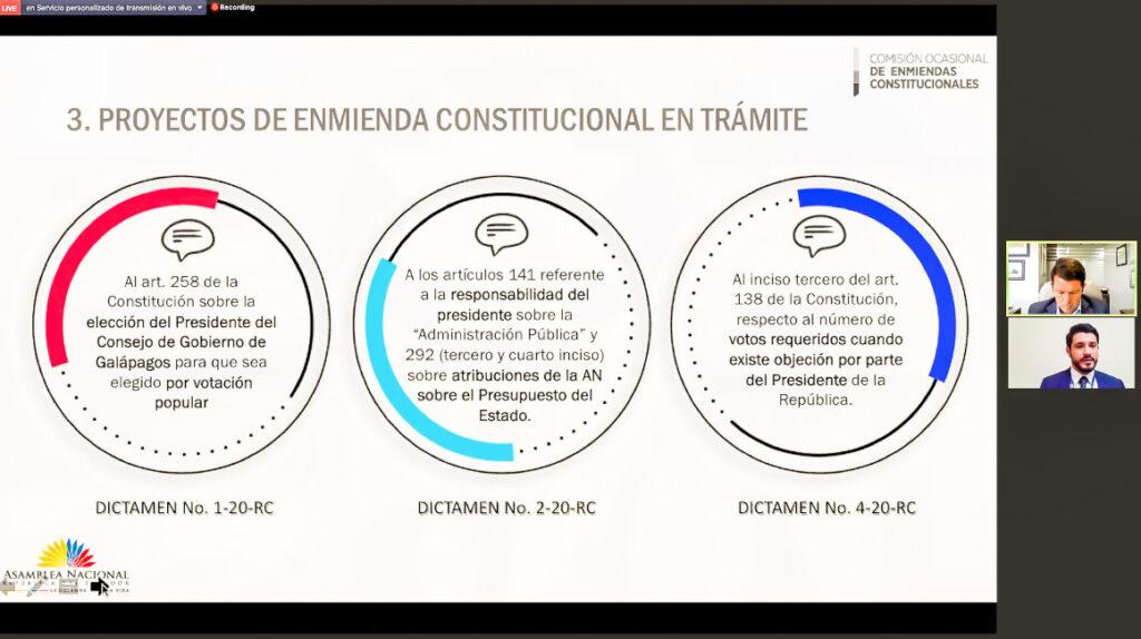 La Asamblea tiene tres proyectos enmiendas constitucionales pendientes