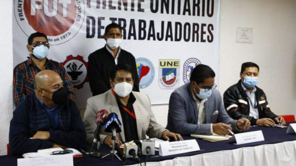 Sindicatos de trabajadores convocan a una movilización el 11 de agosto