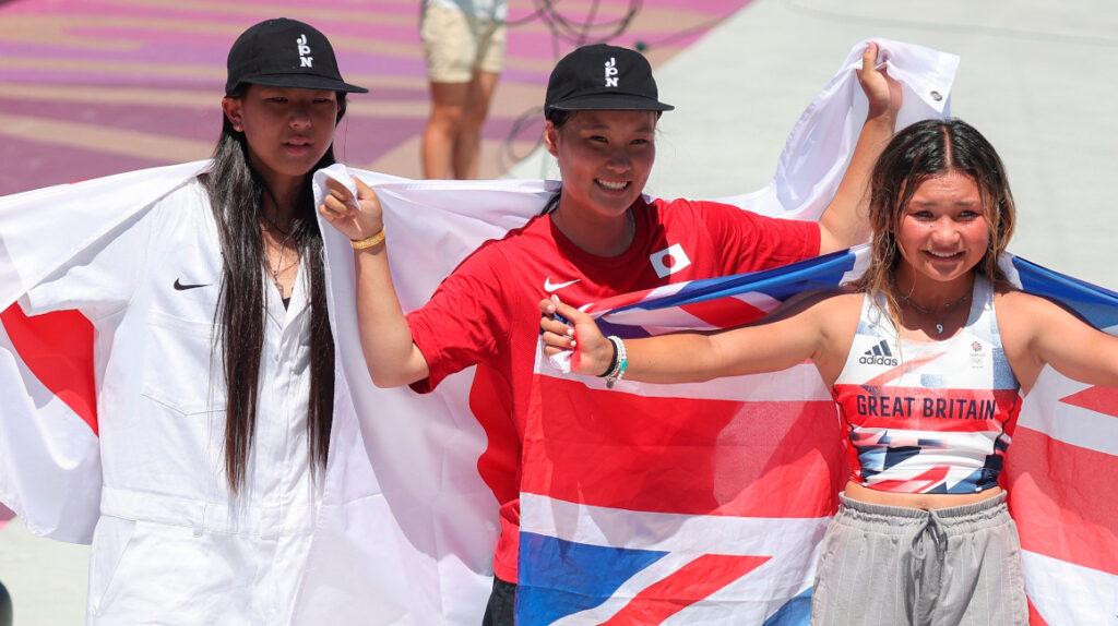 La skater Sakura Yosozumi gana el primer oro en la modalidad parque