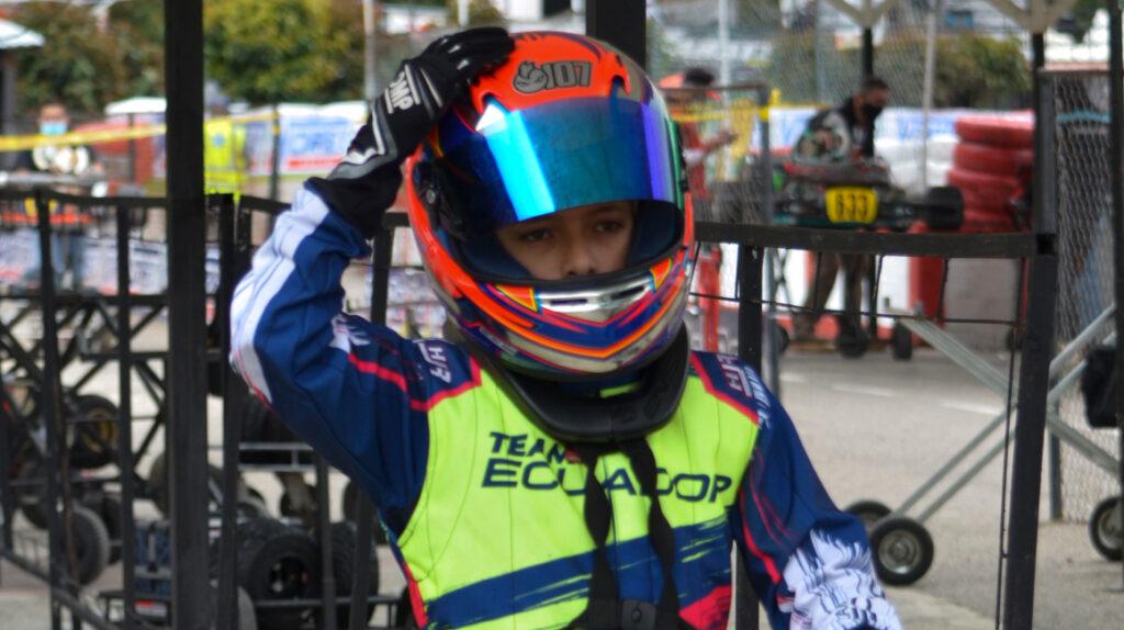 Benjamín Gavilánez termina tercero en el Panamericano de Karting
