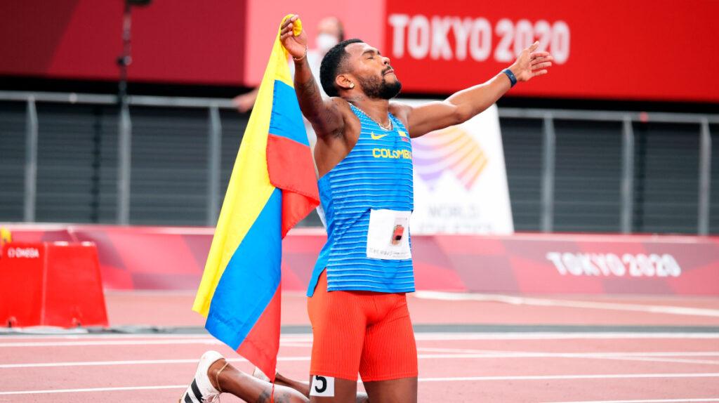 Anthony Zambrano le da a Colombia la medalla de plata en los 400 metros