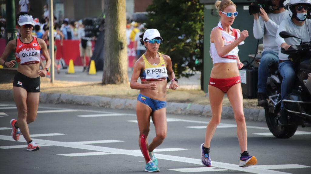 Paola Pérez termina novena en los 20 km marcha y Glenda Morejón se retira
