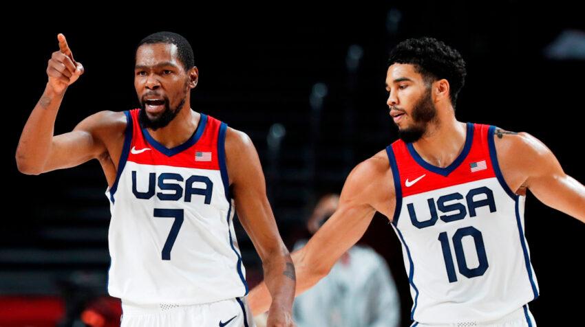 Kevin Durant fue la gran figura de Estados Unidos en el baloncesto masculino.