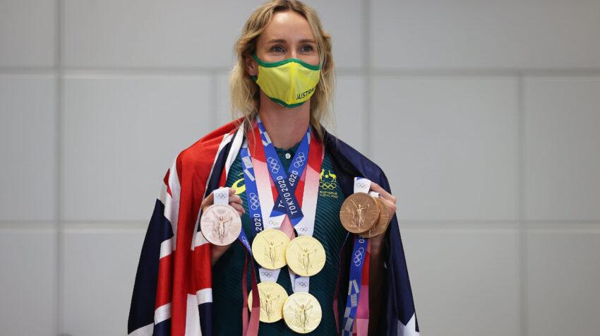Emma McKeon, con sus siete medallas ganadas en natación en los Juegos de Tokio 2021.