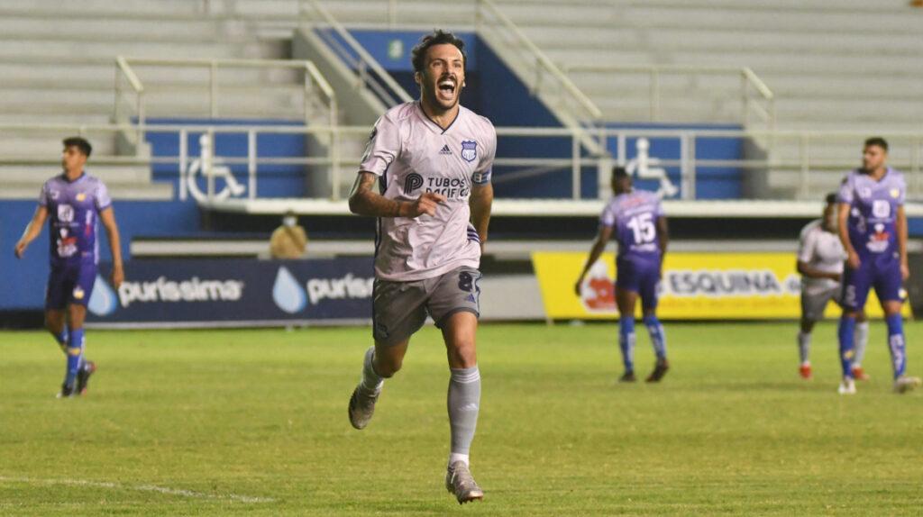 Emelec le gana a Delfín en Manta con goles de Rodríguez y Cabeza