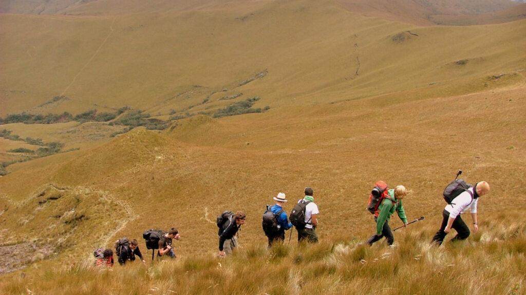 Siete personas extraviadas en el volcán Pasochoa fueron rescatadas