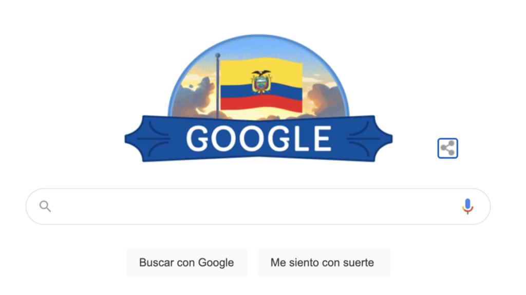 Google rinde homenaje a Ecuador con su 'doodle'