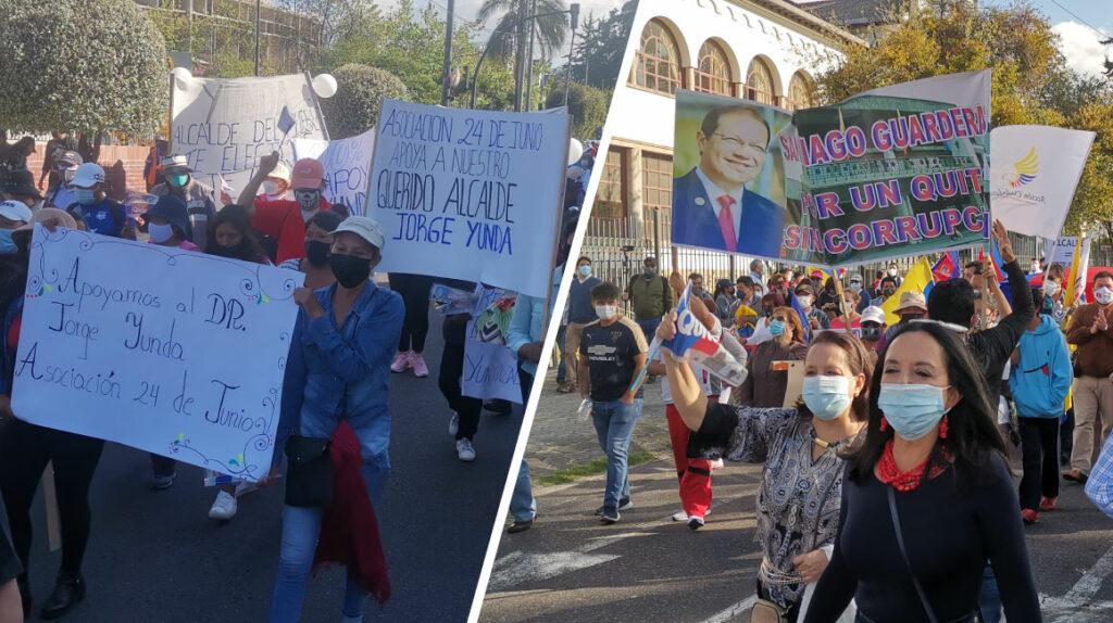 La disputa por la Alcaldía de Quito tuvo poco eco en las calles