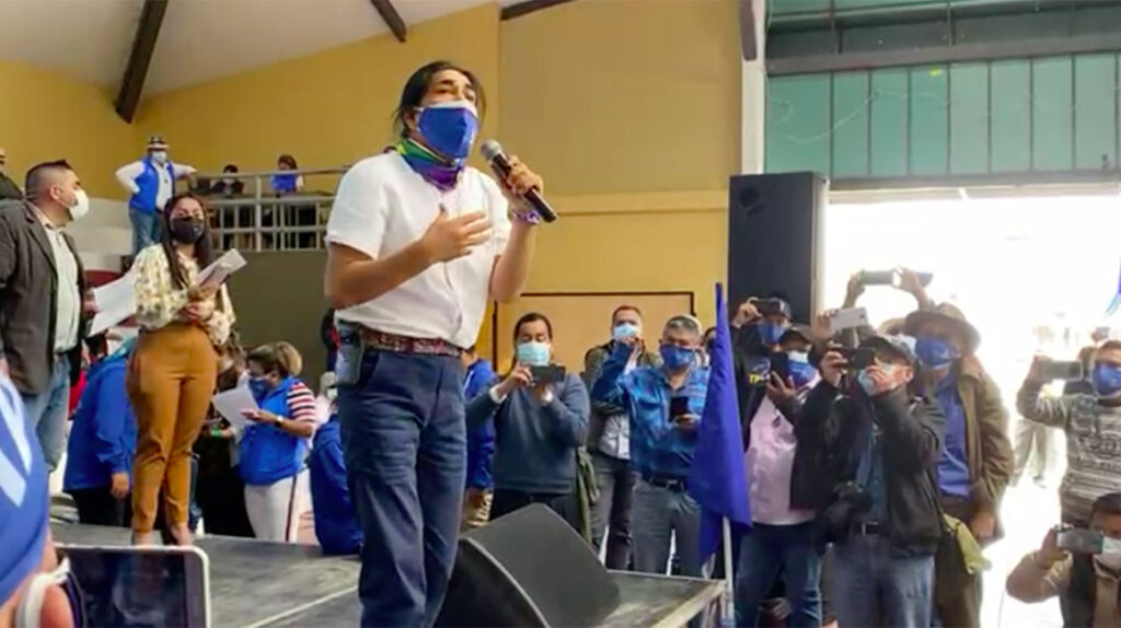 Yaku Pérez presenta su propio movimiento: Somos Agua