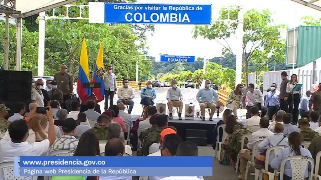 Ecuador y Colombia inauguran tercer corredor vial en la frontera
