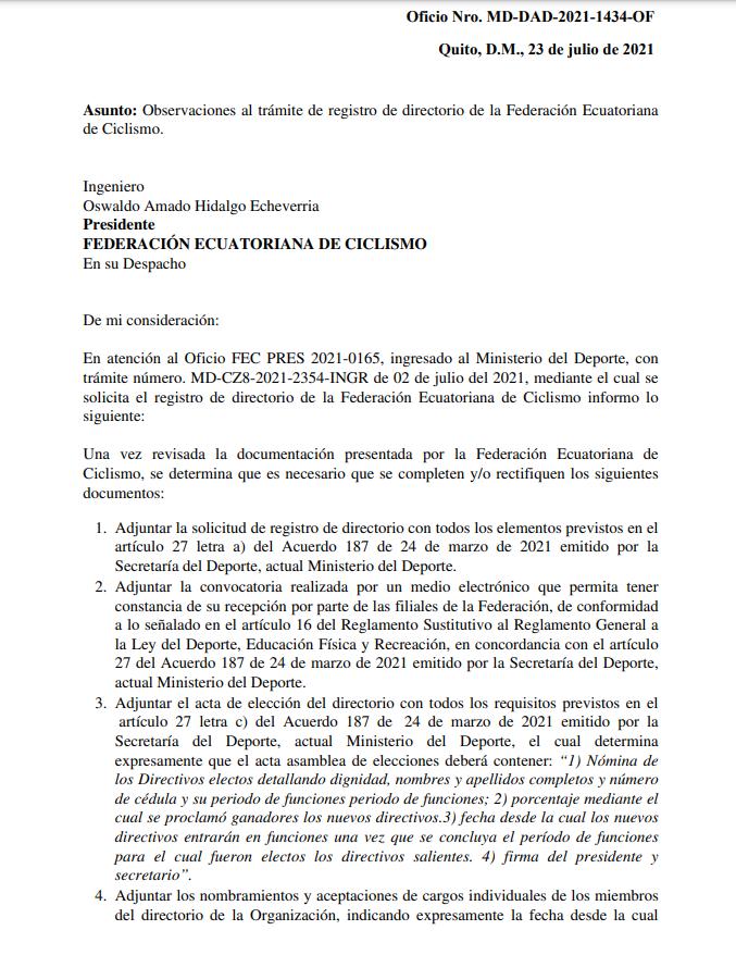Federación Ecuatoriana de Ciclismo