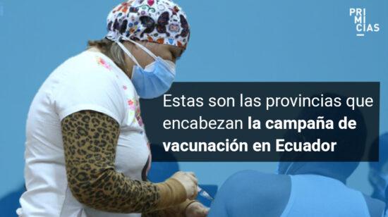 Vacunación por provincias en Ecuador