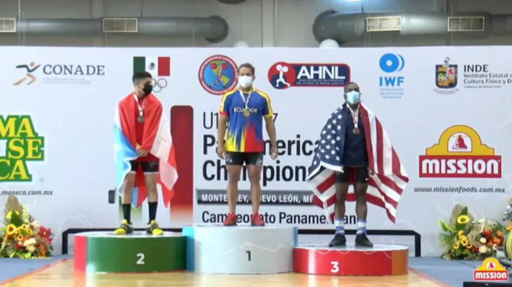 Ecuador alcanza 28 medallas en el Panamericano Juvenil de Halterofilia