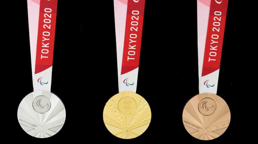 Las medallas de los Juegos Paralímpicos de Tokio 2021.