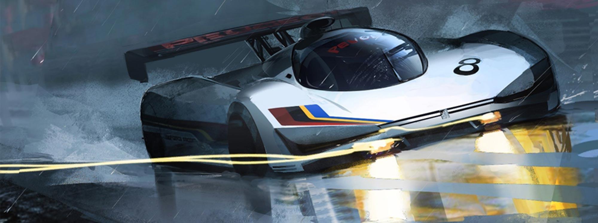 El recorrido de velocidad Peugeot