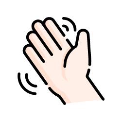 No saludar con la mano