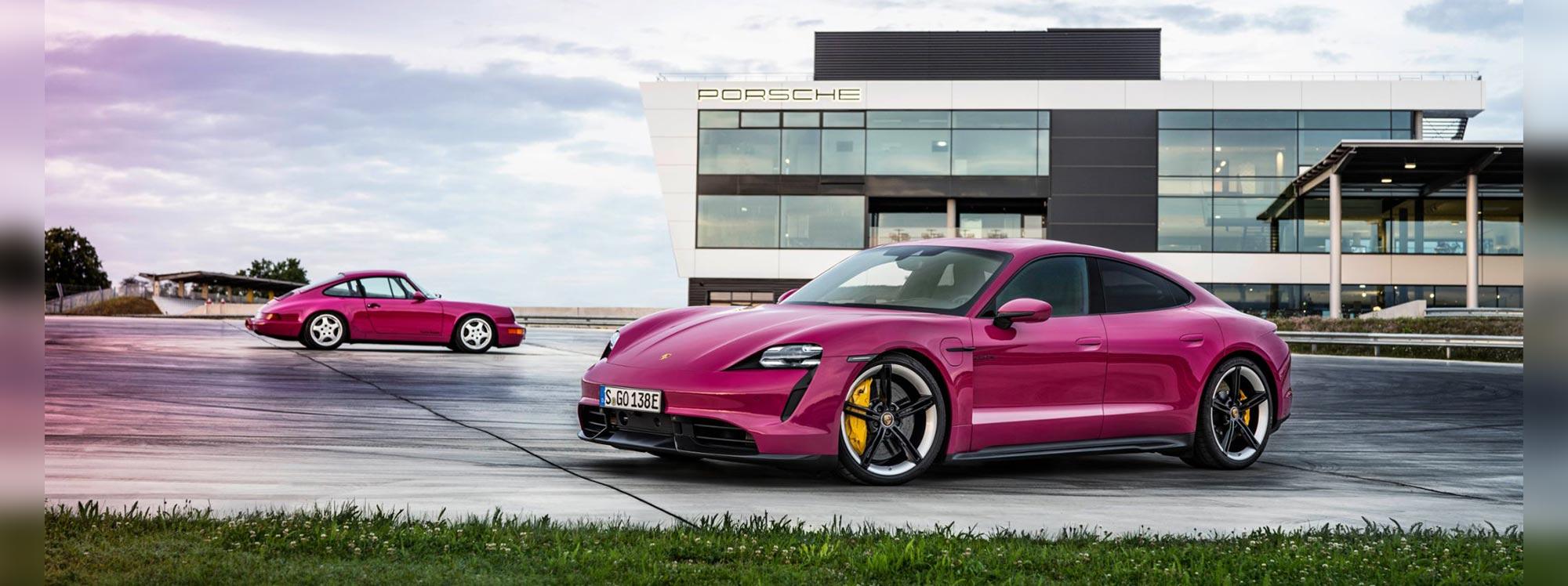 Nuevos colores para el Porsche Taycan
