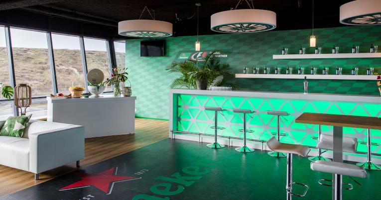 Vista de una de las salas VIP del circuito de Zandvoort, en Países Bajos.