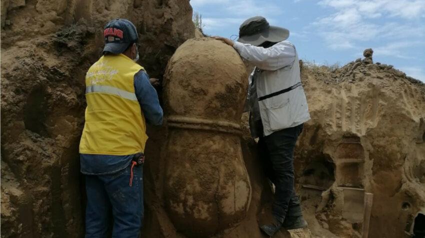Los bienes arqueológicos permanecen custodiados por las autoridades en Vinces.