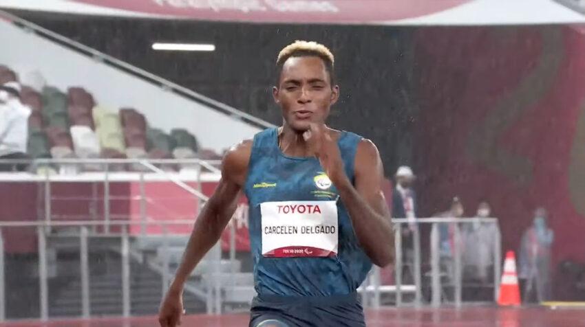 Damián Carcelén, durante la prueba del salto de longitud en Tokio, el 4 de septiembre del 2021.