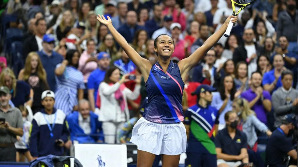 Leylah Fernández, hija de ecuatoriano, eliminó a Osaka del US Open