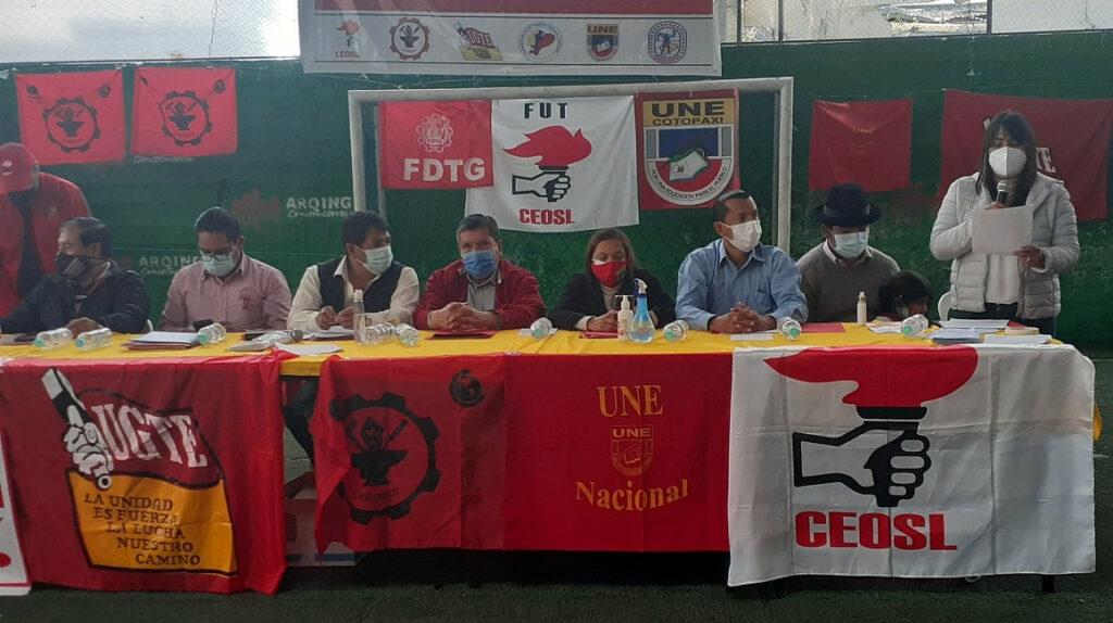 Sindicatos convocan a una nueva movilización en Quito para el 15 de septiembre