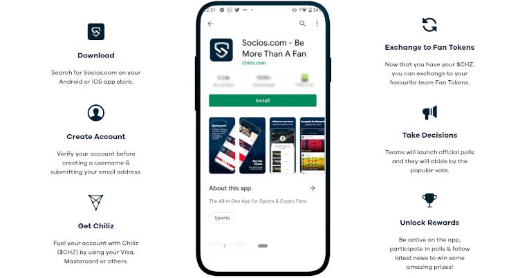 Captura de la aplicación socios.com en donde detalla cómo crear una cuenta.