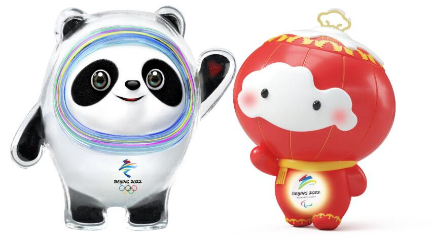 Bing Dwen Dwen (izq) y Shuey Rhon Rhon serán las mascotas de los Juegos Olímpicos y Paralímpicos de Pekín 2022.