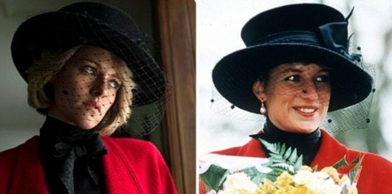 Kristen Stewart en el papel de Diana de Gales, en la cinta 'Spencer'.