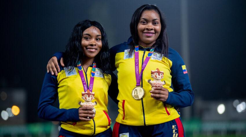 Poleth Mendes y Anaís Méndez, con sus medallas de los Juegos Parapanamericanos de Lima 2019.