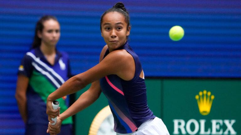Leylah Fernández, durante la final del US Open, en Nueva York, el 11 de septiembre de 2021.