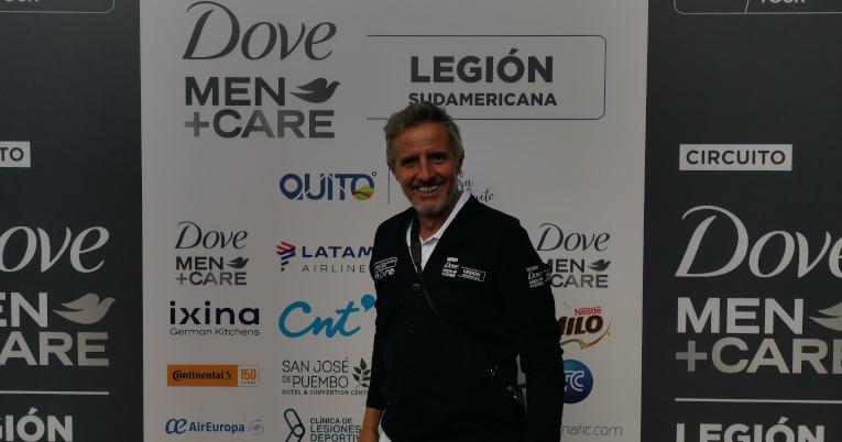 Horacio de la Peña, director del circuito, durante el primer día del Challenger de Quito, el 13 de septiembre de 2021.