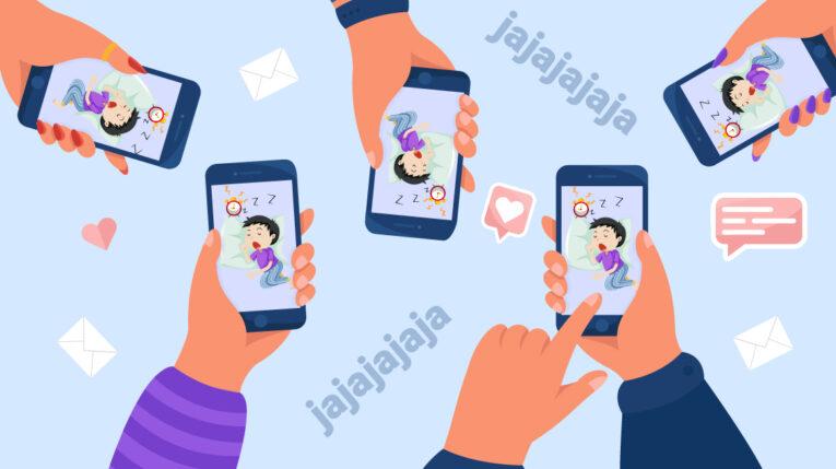 Ilustración muestra cómo los padres exponen a sus hijos en redes sociales.